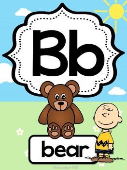 Snoopy Alphabet Posters