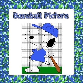 Baseball Coordinate Grid Picture - All 4 Quadrants