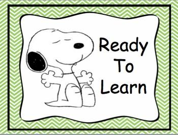Snoopy Behavior Clip Chart