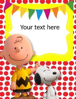 Snoopy Binder Covers Editable!!!