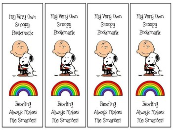 Snoopy Bookmarks