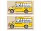 Snoopy Bus-Car-Walker Back to School Transportation Tags