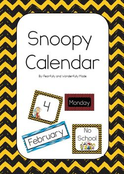 Snoopy Calendar