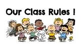Snoopy / Peanuts Class Rules