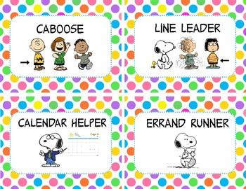 Snoopy Classroom Helpers