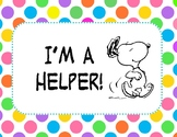 Snoopy Classroom Helpers