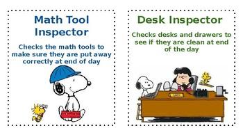 Snoopy / Peanuts Classroom Jobs (Editable)