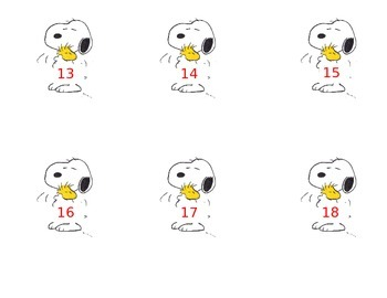 Snoopy Closet/Cubby Tags