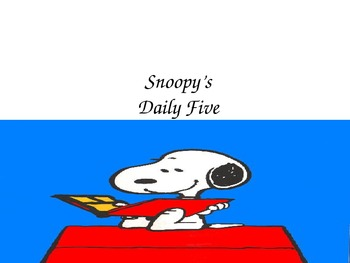 Snoopy Daily Five