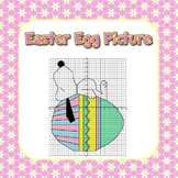 Easter Egg Math Coordinate Grid Picture - 2 Versions 1st Q