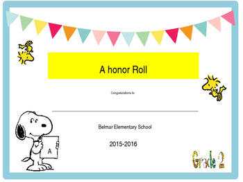 Snoopy End of Year awards