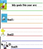 Snoopy Goal Sheets for DATA binders