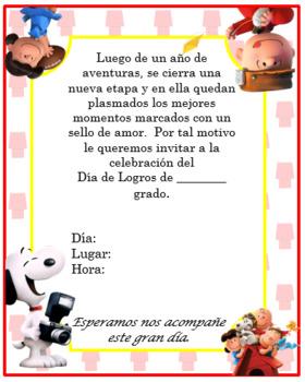 Snoopy Invitation. Complete Editable