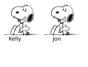 Snoopy Job Chart Student Cards and Doghouses