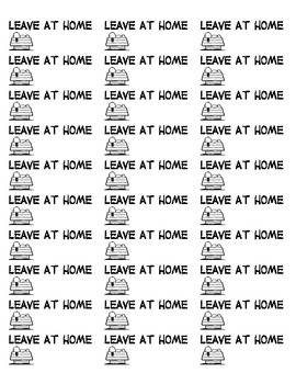 """Snoopy """"Leave at Home"""" labels"""