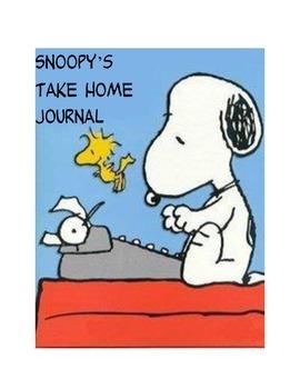Snoopy Peanuts Class Mascot Take Home Journal