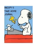 Snoopy Peanuts Class Mascot Take Home Journal
