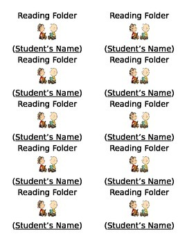 Snoopy - Peanuts Folder Labels