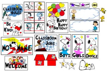 Snoopy/Peanuts Gang Total Classroom Set up
