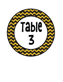 Snoopy Peanuts Table Numbers
