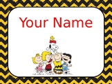 Snoopy Peanuts Teacher Name Editable Sign