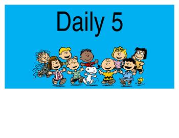 Snoopy-Peanuts Themed Daily 5 Clip Chart