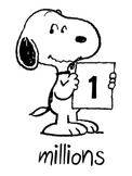 Snoopy Place Value Chart