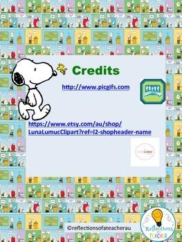 Reading Record-Snoopy theme.