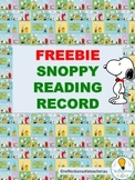 Reading Record-Snoopy theme.