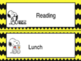 Snoopy Schedule Cards