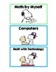 Snoopy Station Labels