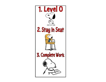 Snoopy Student Desk Task Cards