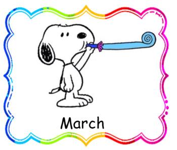 Snoopy Theme Birthday Chart