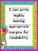 "Snoopy Theme Writing ""I can"" posters"