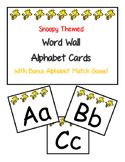 Snoopy Themed Alphabet Word Wall Cards with Bonus Alphabet Matching Game!