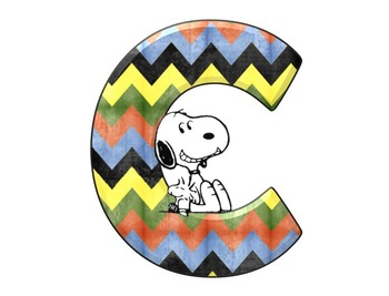 Snoopy Themed Alphabet and Numbers