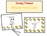 Snoopy Themed Behavior Punch Cards