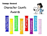 Snoopy Themed Character Counts Awards
