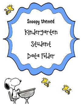 Snoopy Themed Kindergarten Student Data Tracking Folders