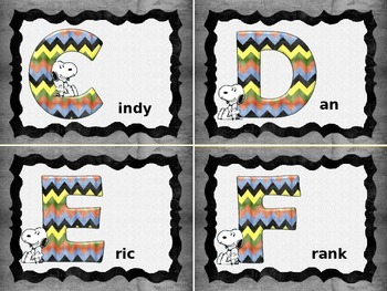 Snoopy Themed Name Tags