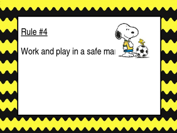 Snoopy Themed Rules Poster