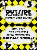 Snoopy Themed Voice Level Posters