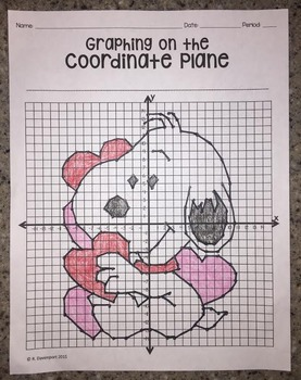 Snoopy Valentine (Graphing on the Coordinate Plane Mystery Picture)