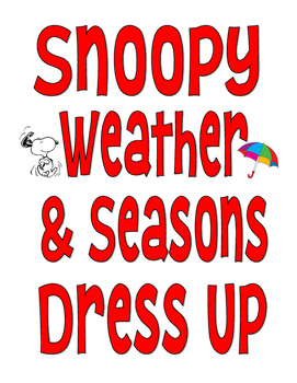 Peanuts Snoopy Weather and Seasons Dress Up