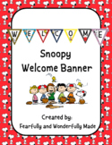 Snoopy Welcome Sign