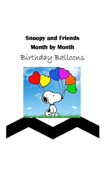 Snoopy and Friends Birthday Balloons
