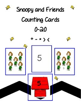 Snoopy and Friends Counting Cards 0-20