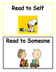 Snoopy and Friends Daily 5 and Literacy Centers Rotation Cards