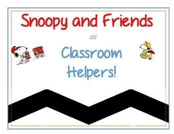 Snoopy and Friends as Classroom Helpers