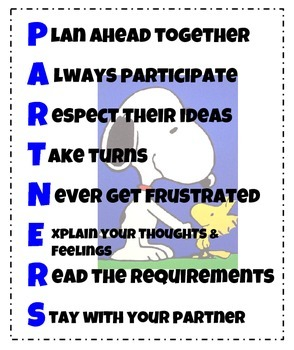 Snoopy and Woodstock Partners Acrostic Poster